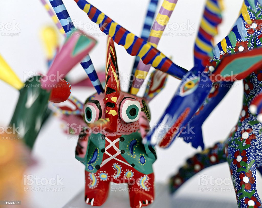 Alebrijes - Mexican crafts stock photo