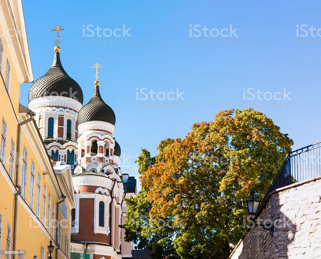 Aleksander Nevski cathedral in Tallinn, Estonia stock photo