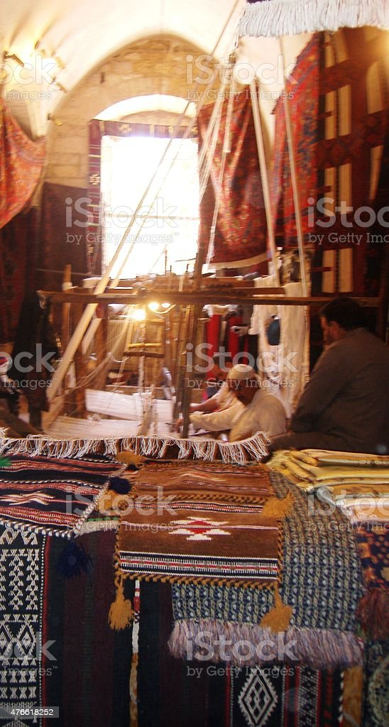 Aleppo bazaar stock photo