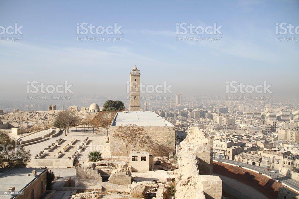 Aleppo Citadel stock photo