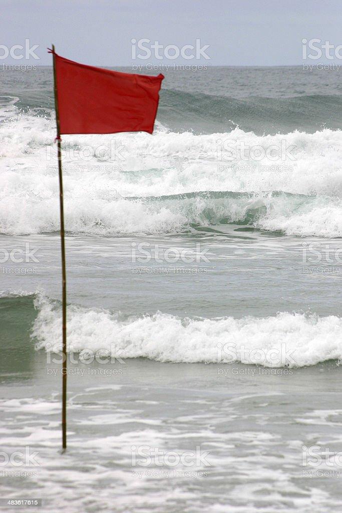 Alert flag royalty-free stock photo