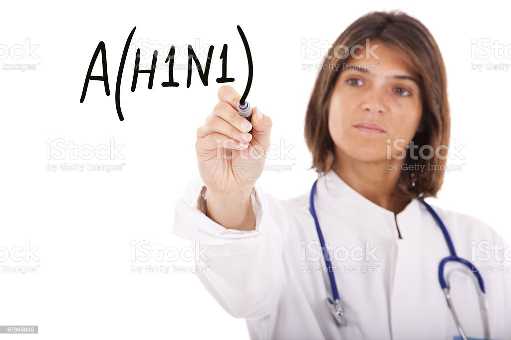 Alert for A(H1N1) stock photo