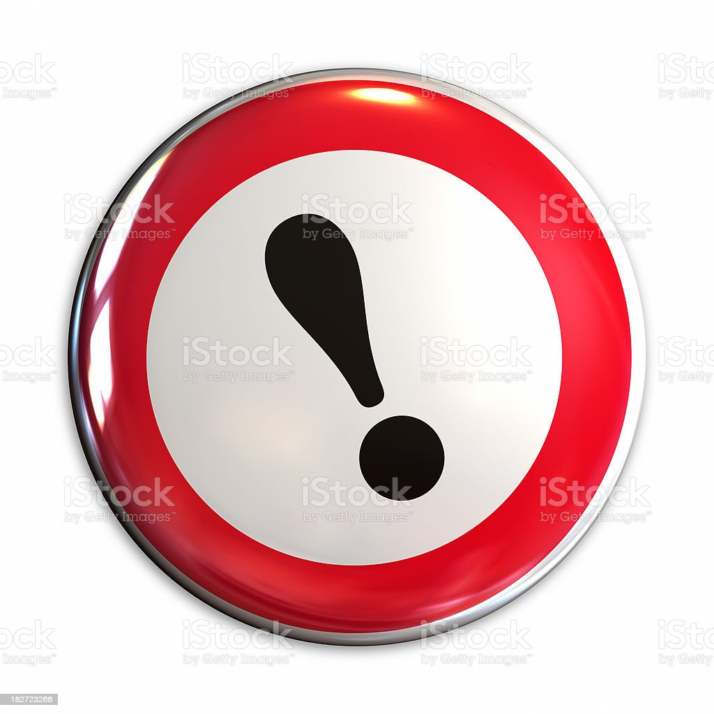 Alert symbol. Warning sign. royalty-free stock photo