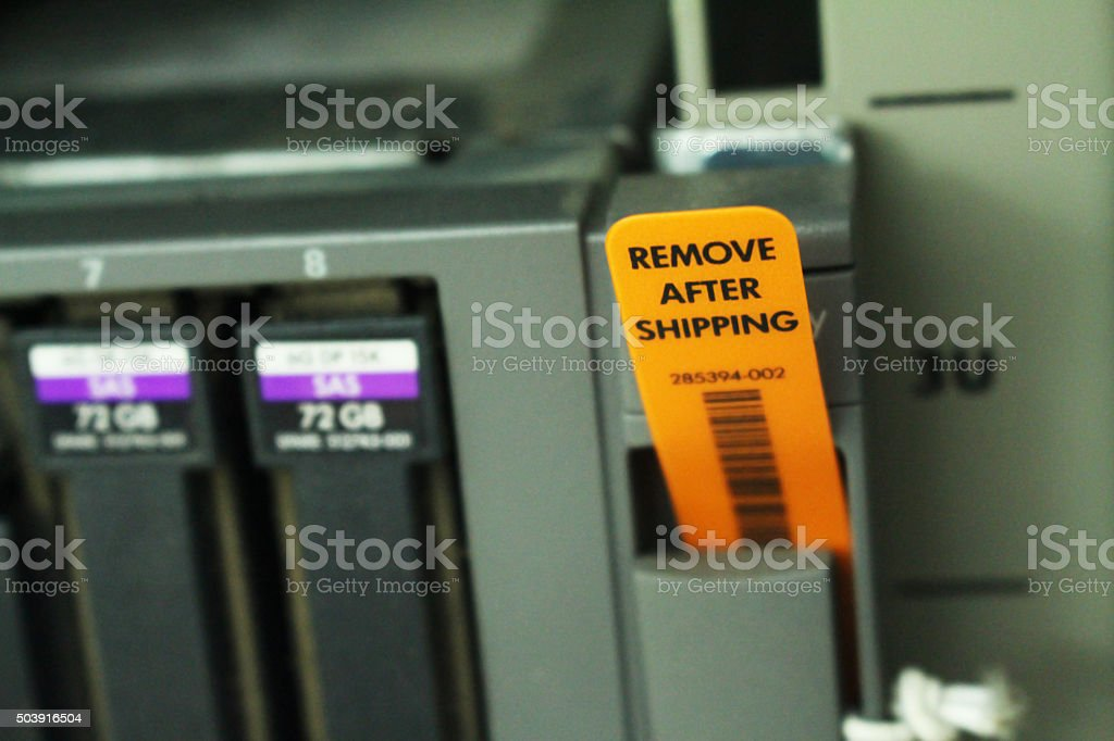Alerts for staff on Server stock photo