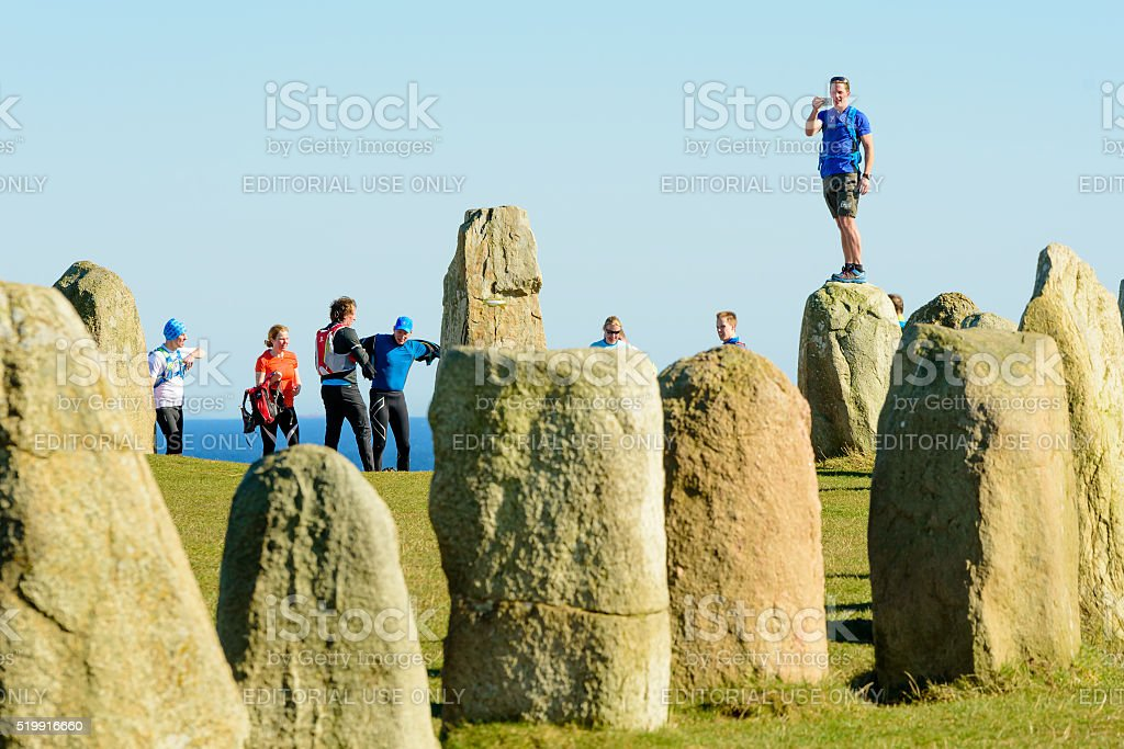 Ales stones with tourists stock photo