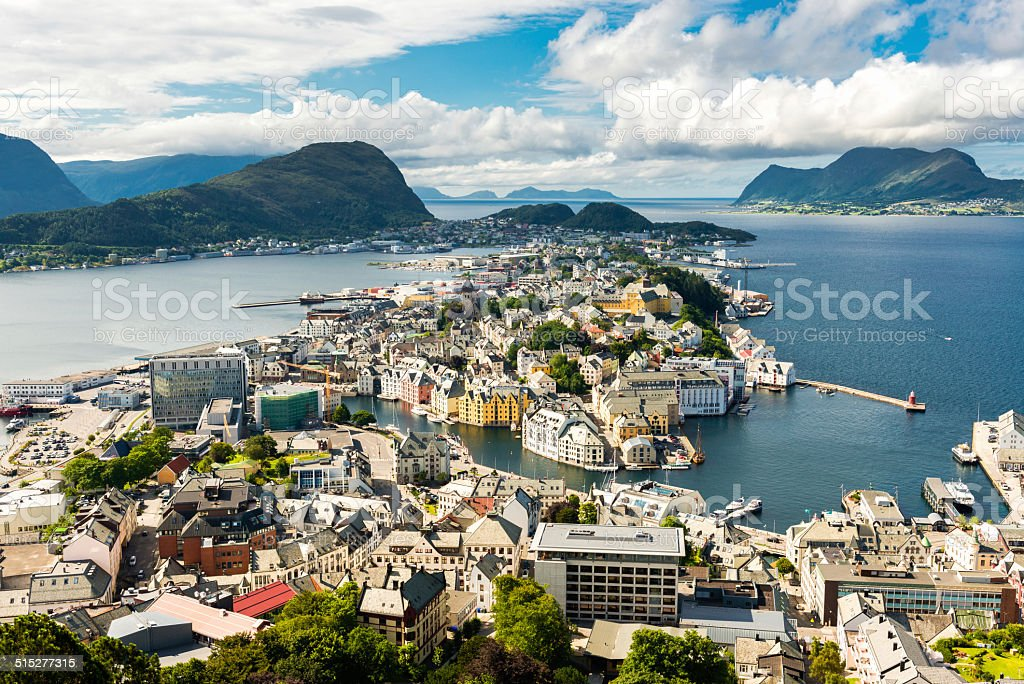 Alesund in Norway stock photo