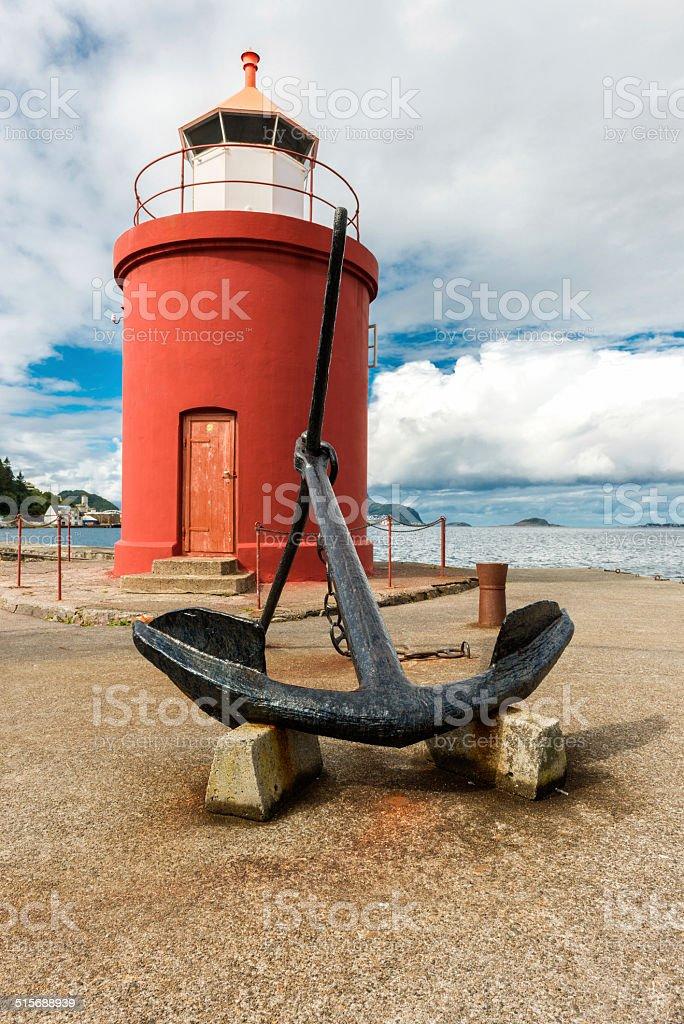 Alesund lighthouse stock photo