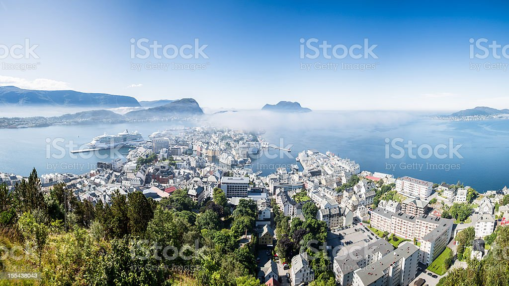 Alesund, Norway Panoramic stock photo