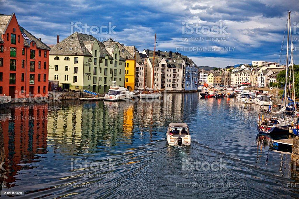 Alesund. Norway stock photo