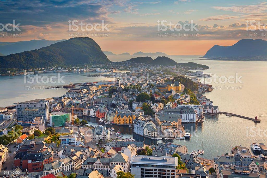Alesund, Norway. stock photo