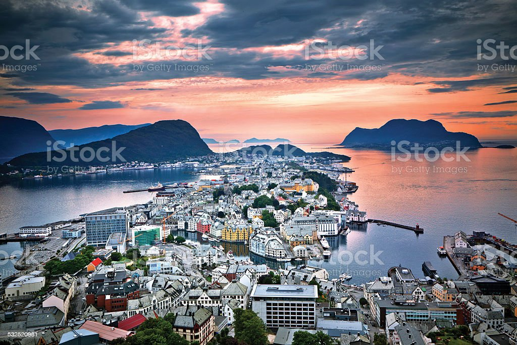 Alesund. Norway stock photo