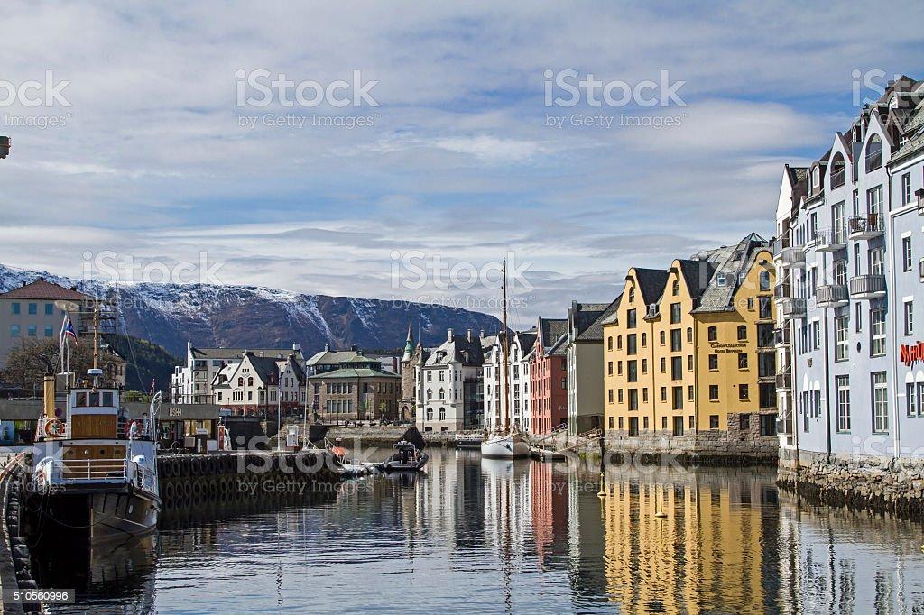 Alesund stock photo