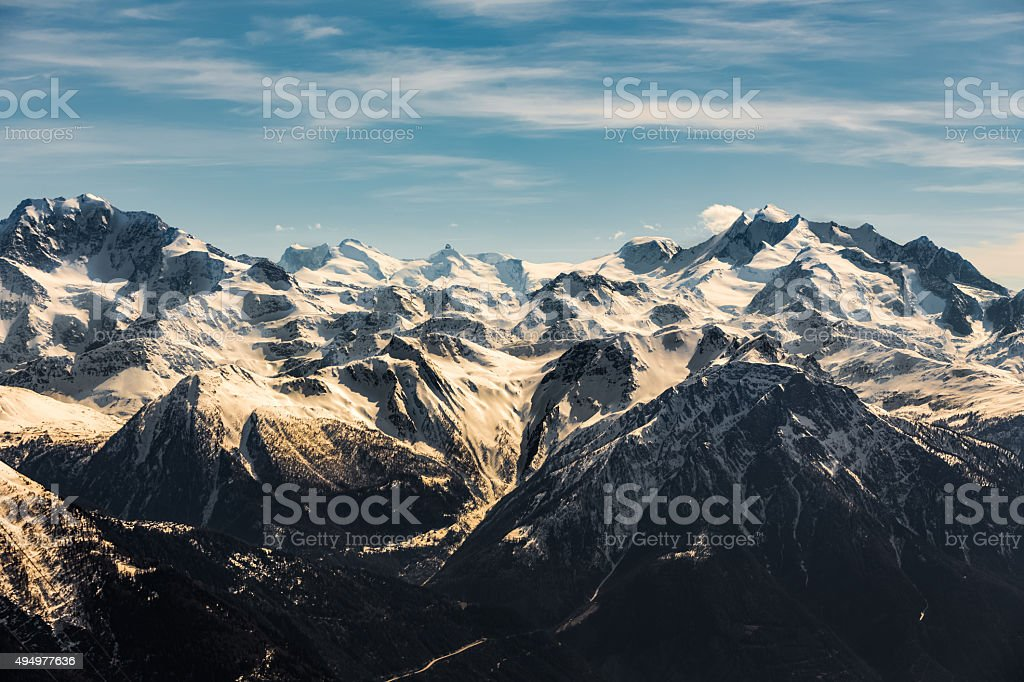 Aletsch arena stock photo