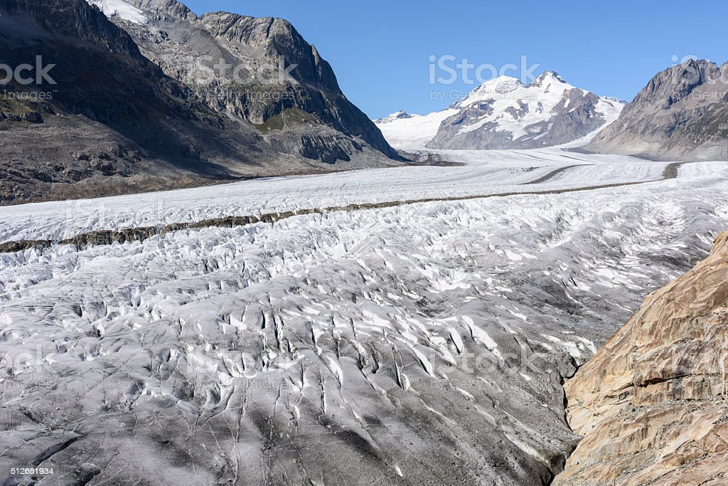 Aletsch Glacier, Aletschgletscher, European Alps stock photo