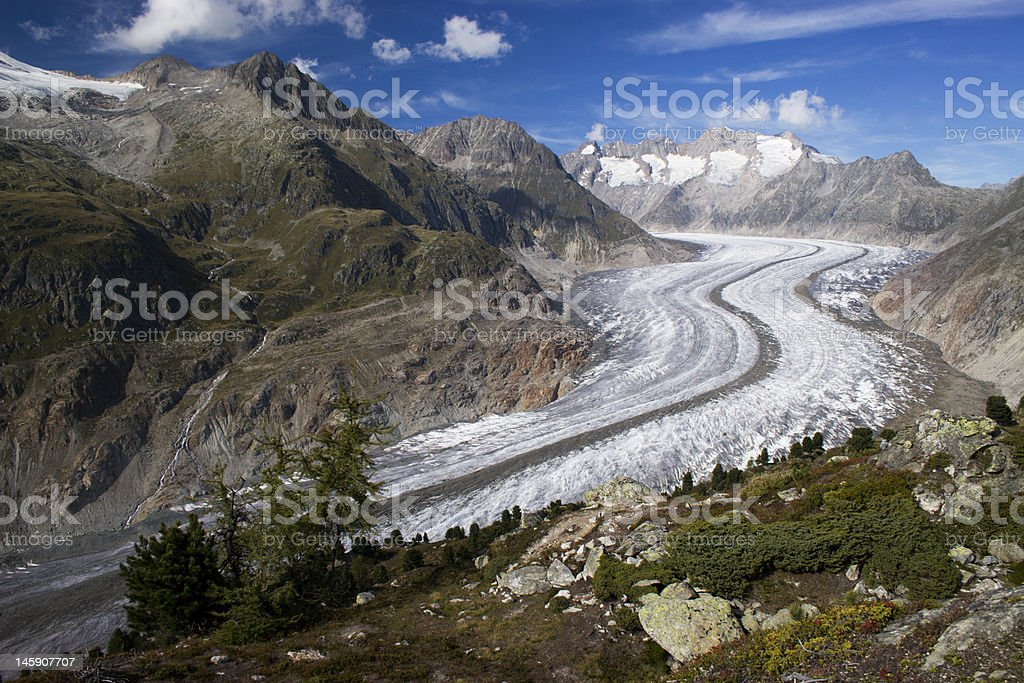 Aletsch Glacier royalty-free stock photo