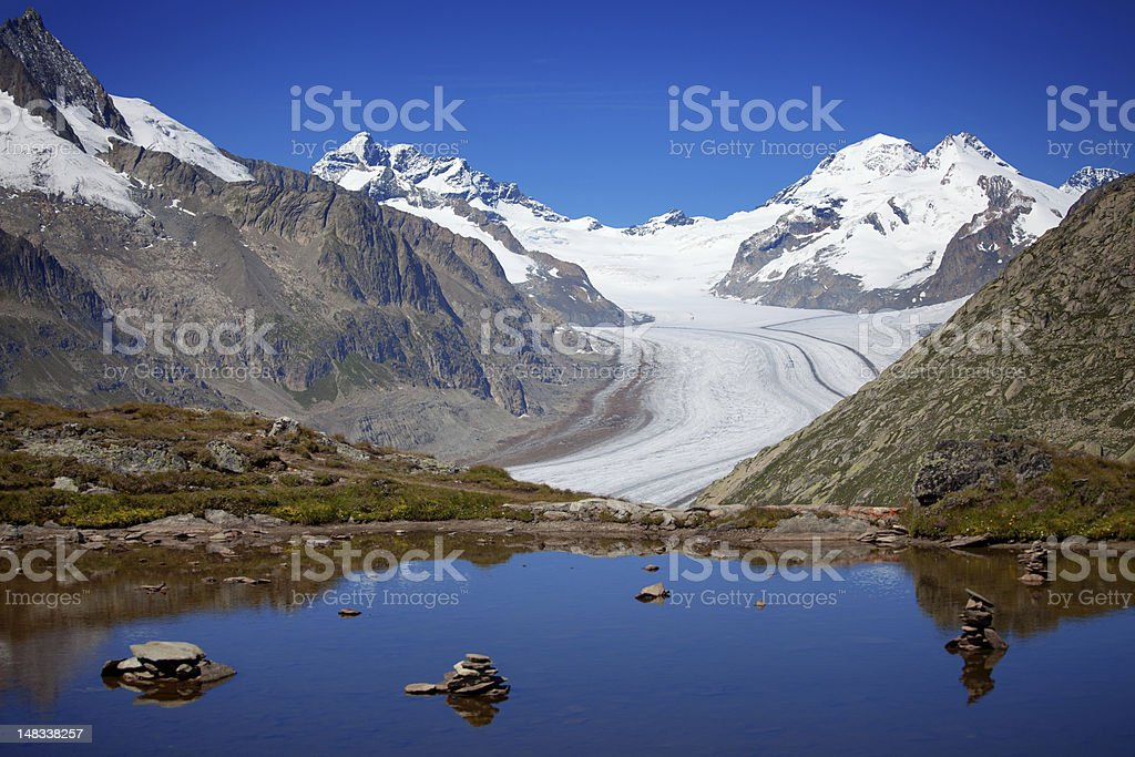 Aletsch Glacier stock photo