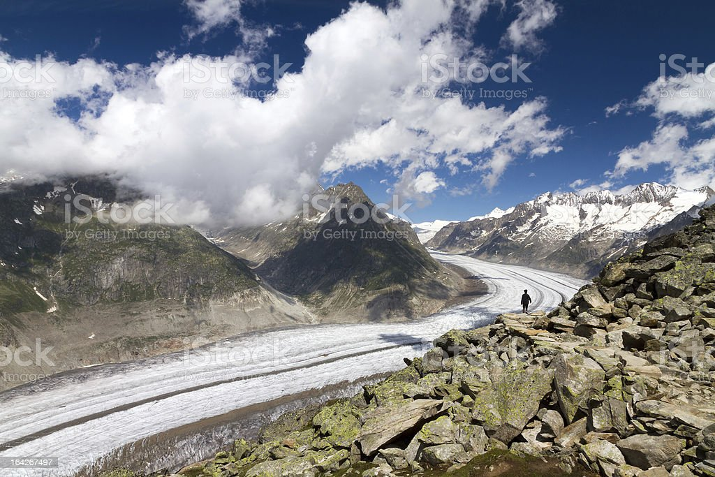 Aletsch glacier stock photo