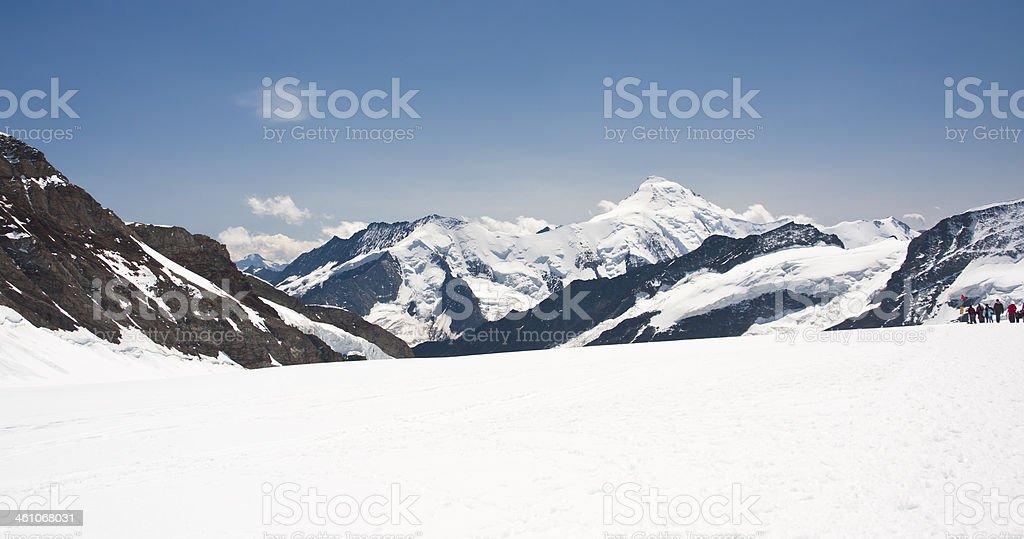 Aletschhorn, Swiss Alps royalty-free stock photo