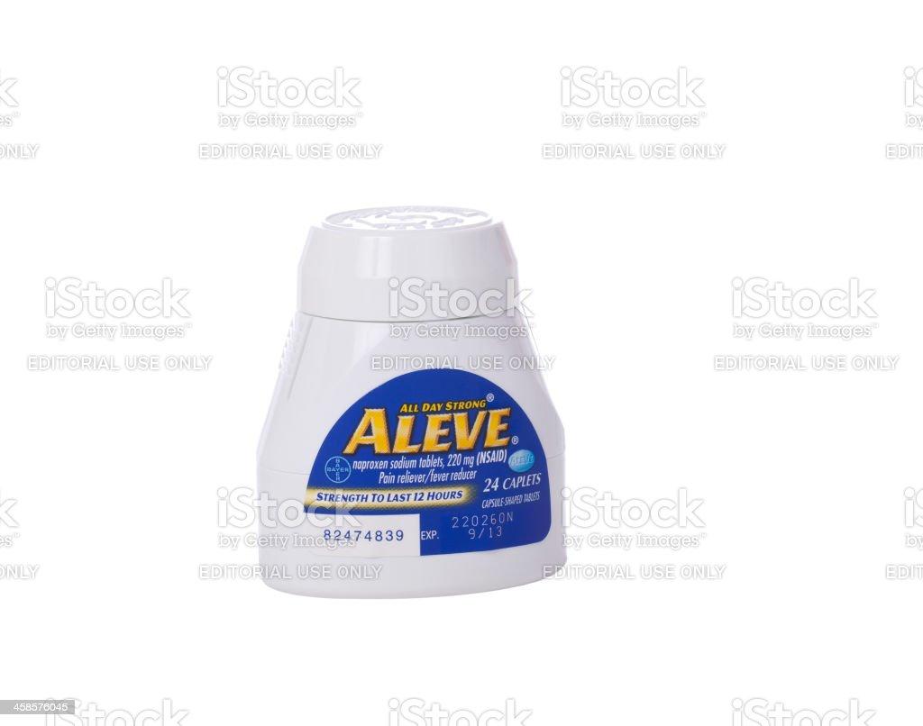Aleve Isolated on White stock photo