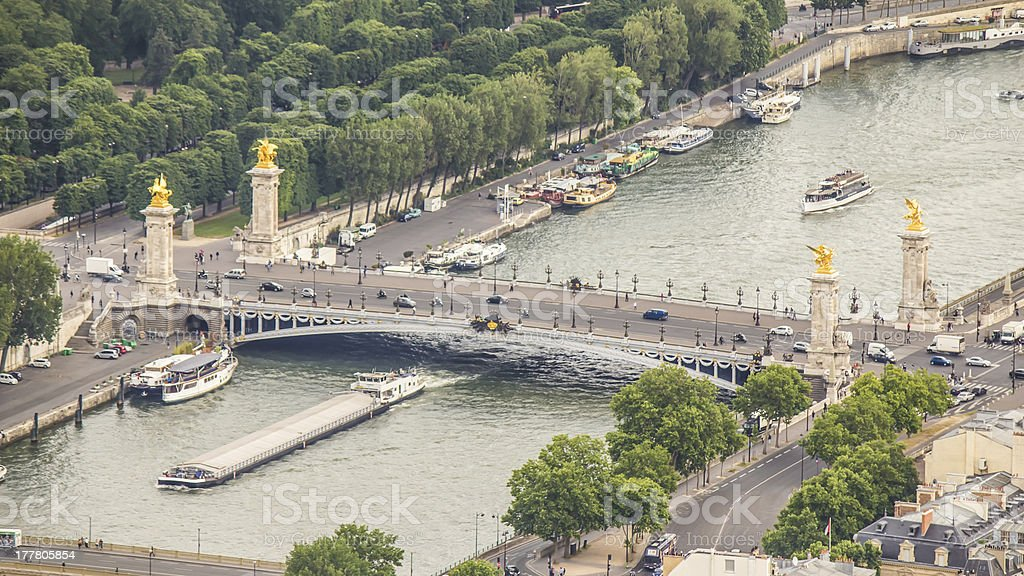Alexander bridge, Paris, France stock photo