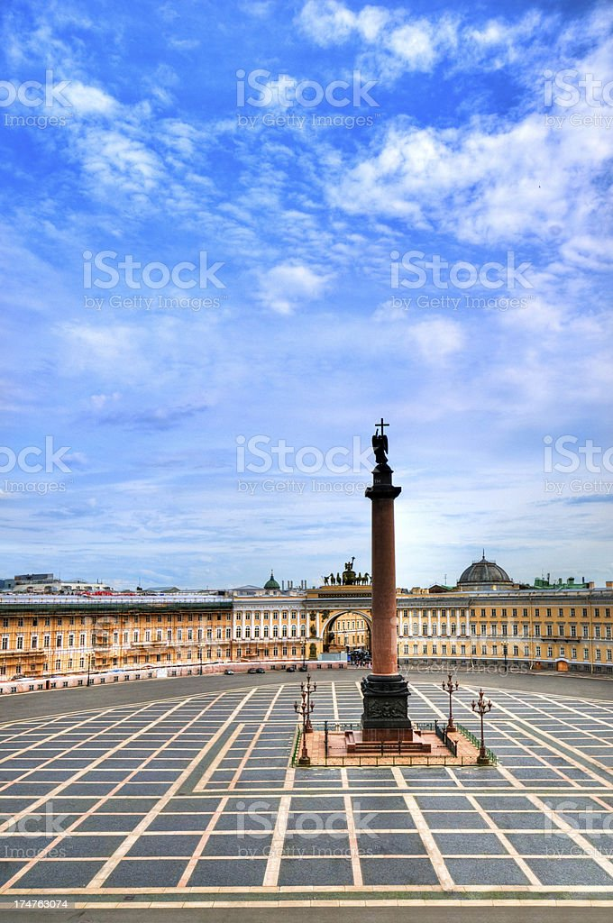 Alexander Column and Palace Square royalty-free stock photo