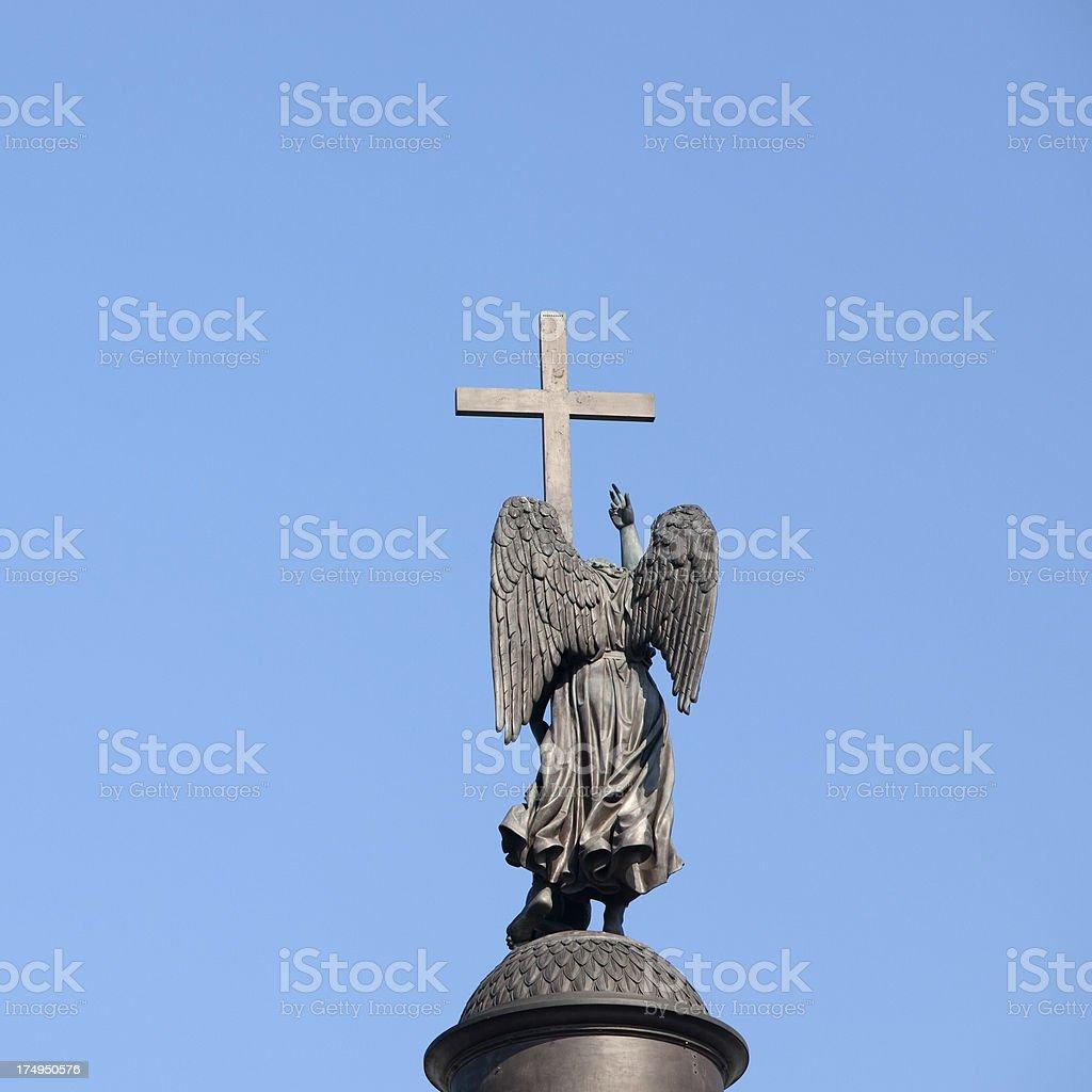 Alexander Column, Saint Petersburg, Russia stock photo