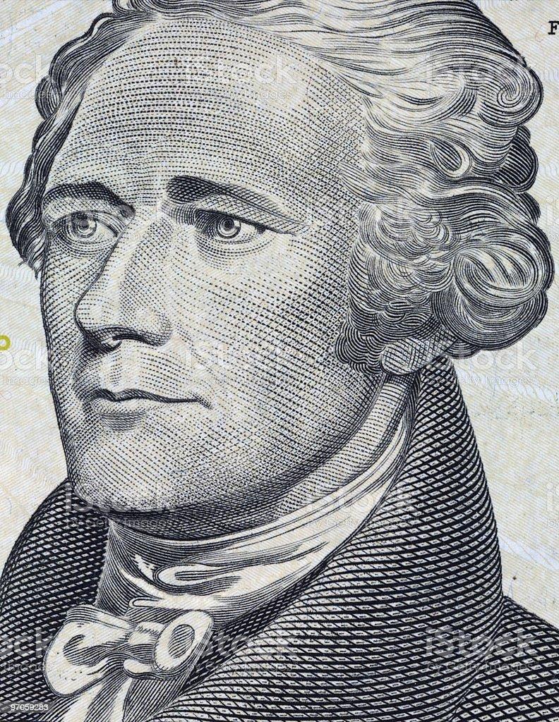 Alexander Hamilton  - Macro Photo stock photo