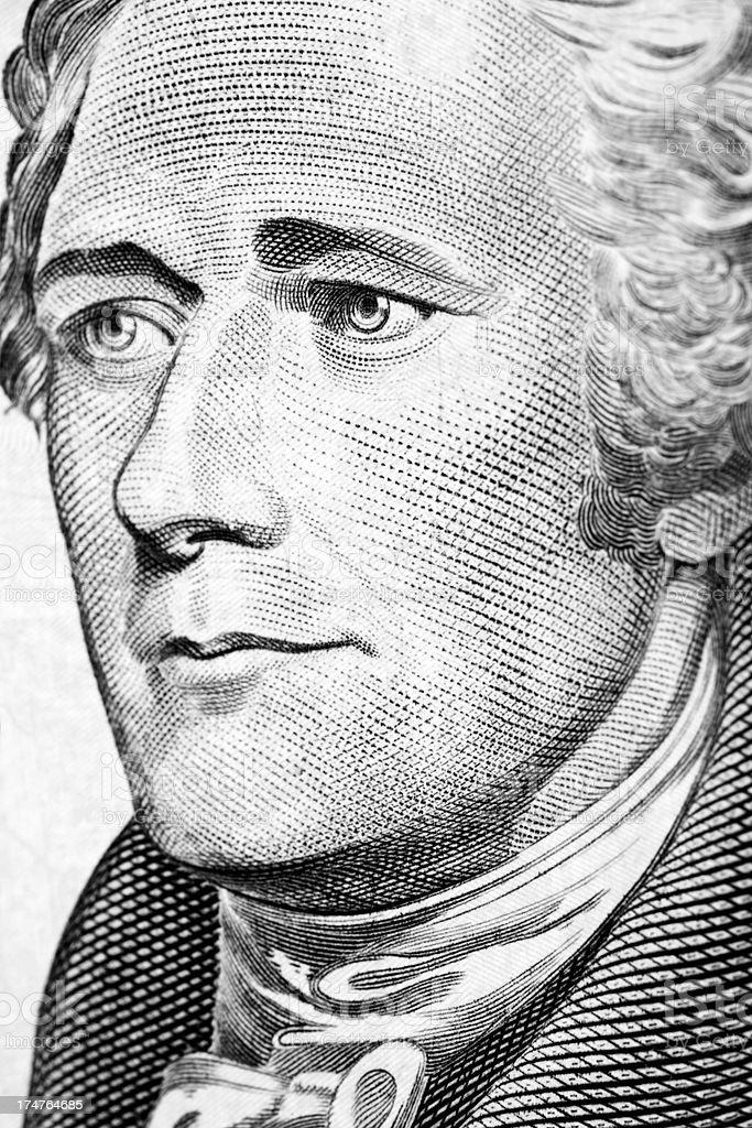 Alexander Hamilton Portrait stock photo
