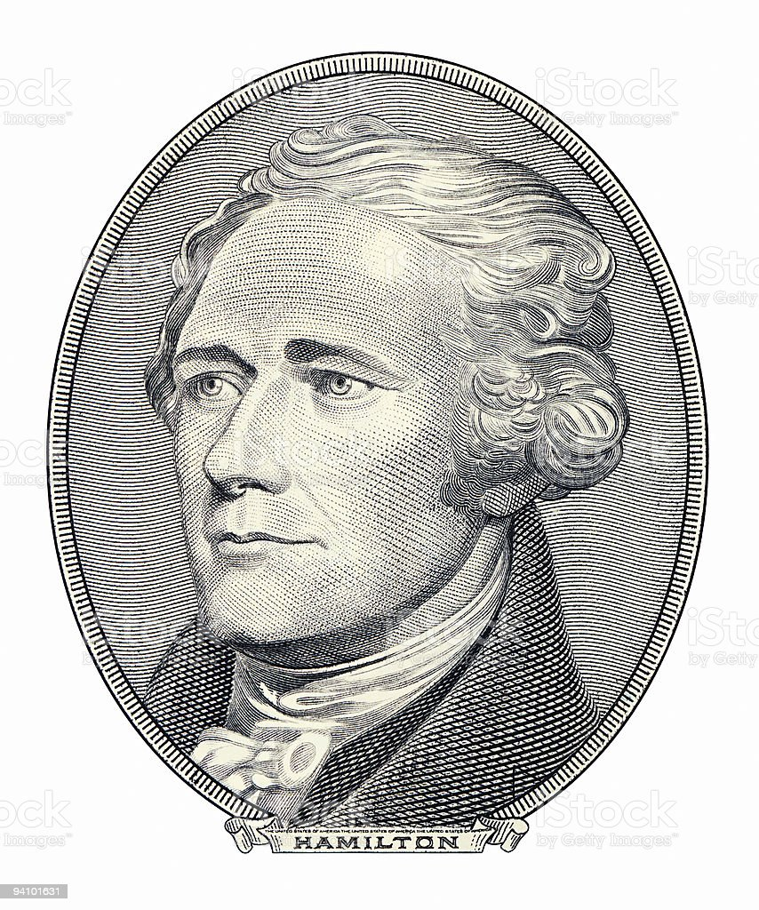 Alexander Hamilton portrait stock photo
