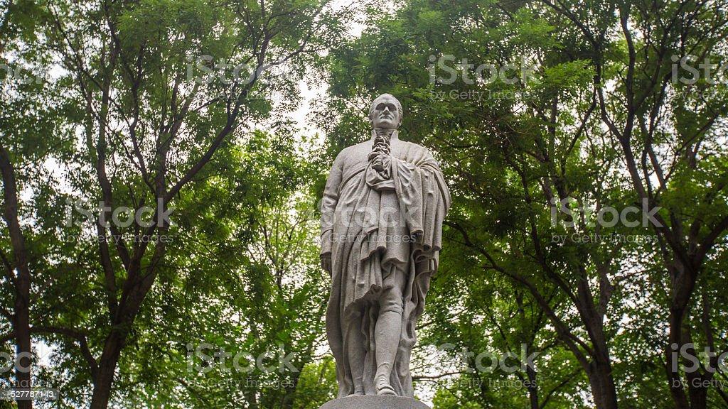 Alexander Hamilton statue stock photo