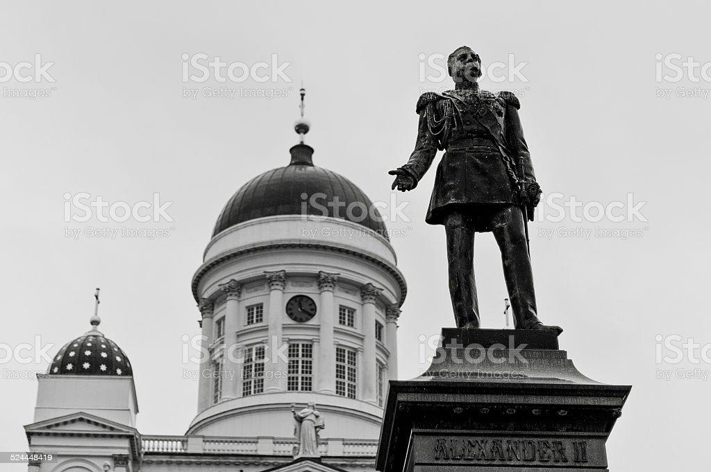 Alexander II statue stock photo