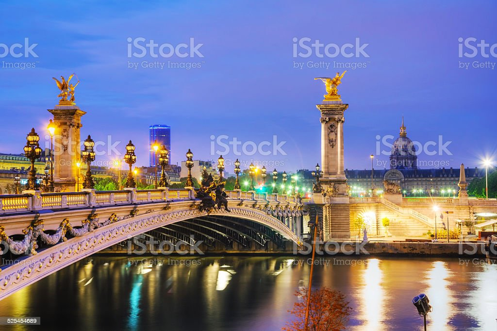 Alexander III bridge in Paris stock photo