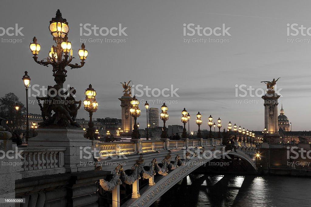 Alexander III bridge, Paris stock photo