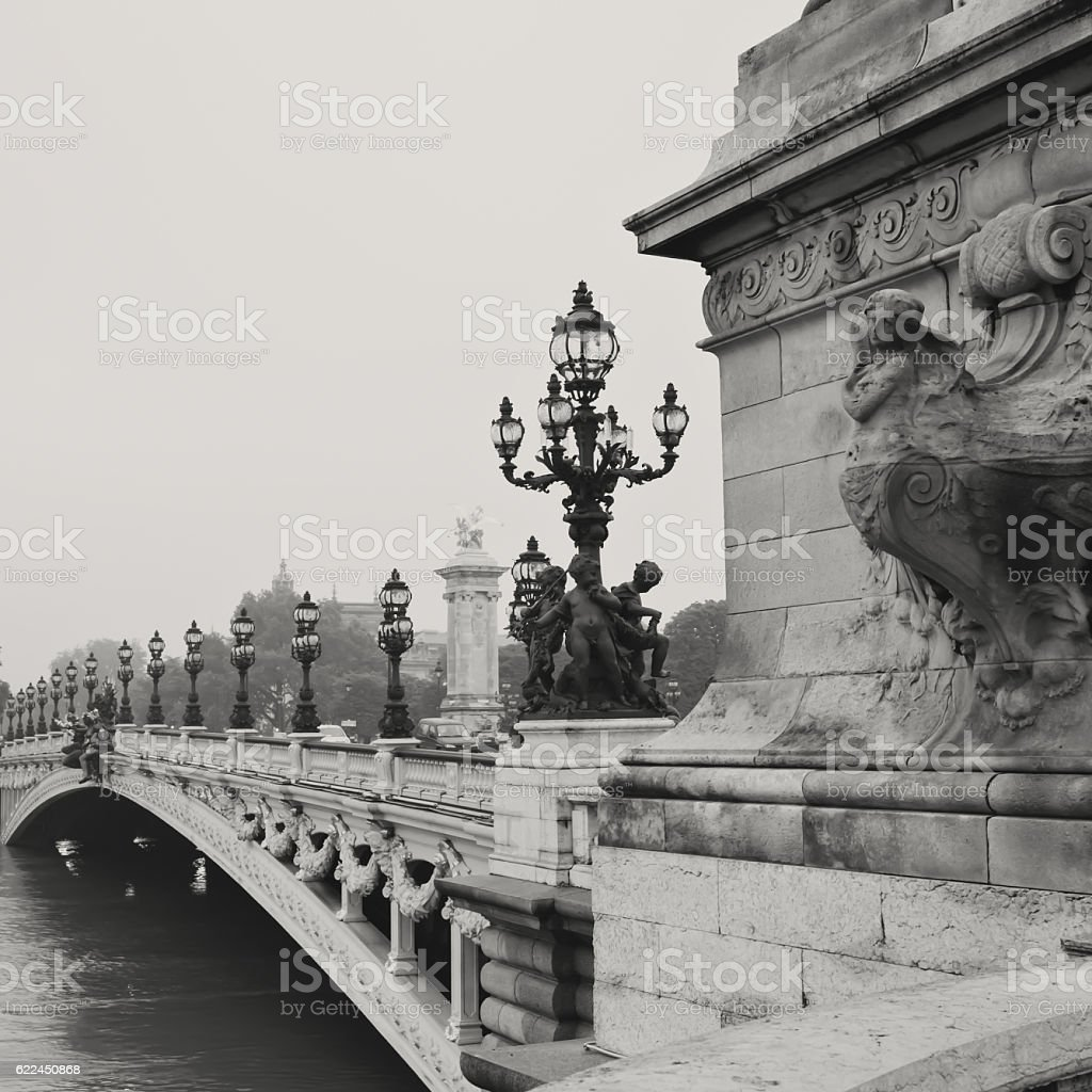 Pont Alexandre III stock photo