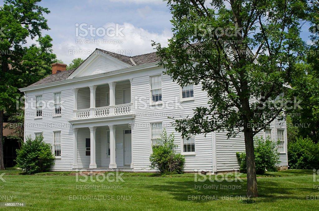 Alexander Majors House on Santa Fe Trail stock photo