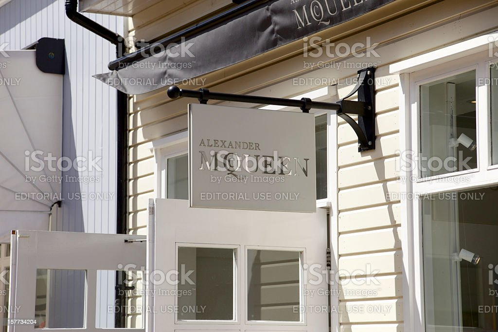 Alexander McQueen Signage... royalty-free stock photo