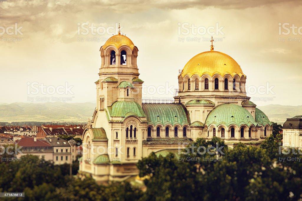 Alexander Nevski cathedral stock photo