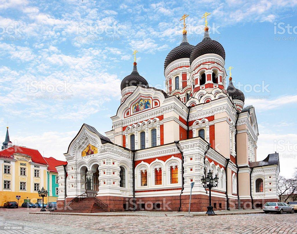 Alexander Nevsky Cathedral in Tallinn Old Town, Estonia stock photo