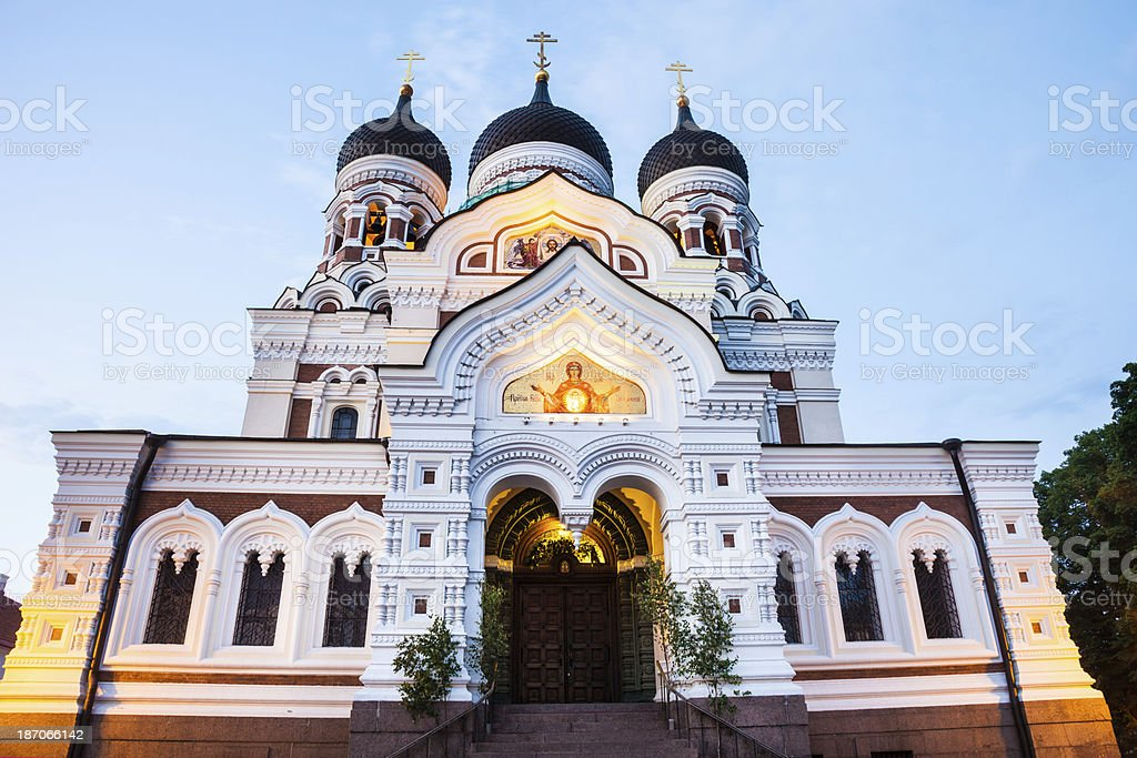 Alexander Nevsky Cathedral in Tallinn royalty-free stock photo