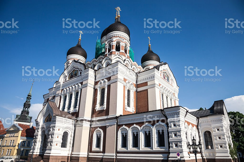 Alexander Nevsky Cathedral in Tallinn stock photo