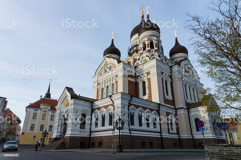 Alexander Nevsky Cathedral in the Tallinn Old Town, Estonia. stock photo