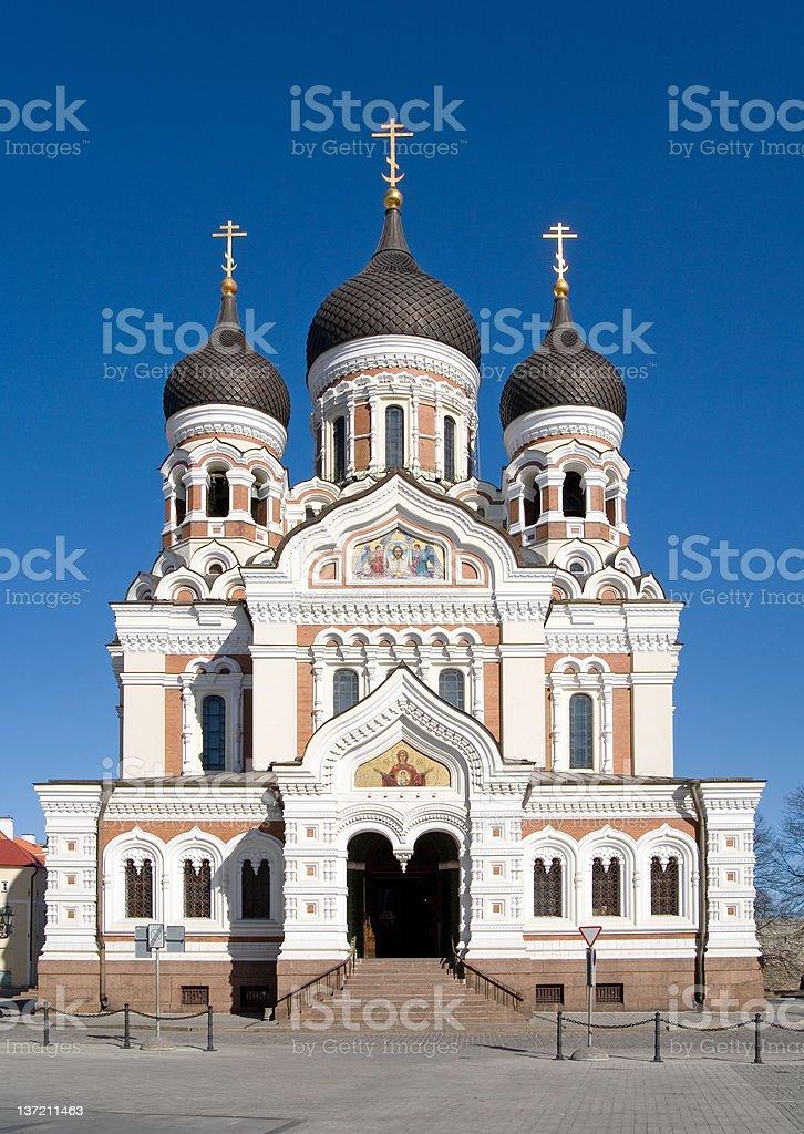 Alexander Nevsky Cathedral midday stock photo