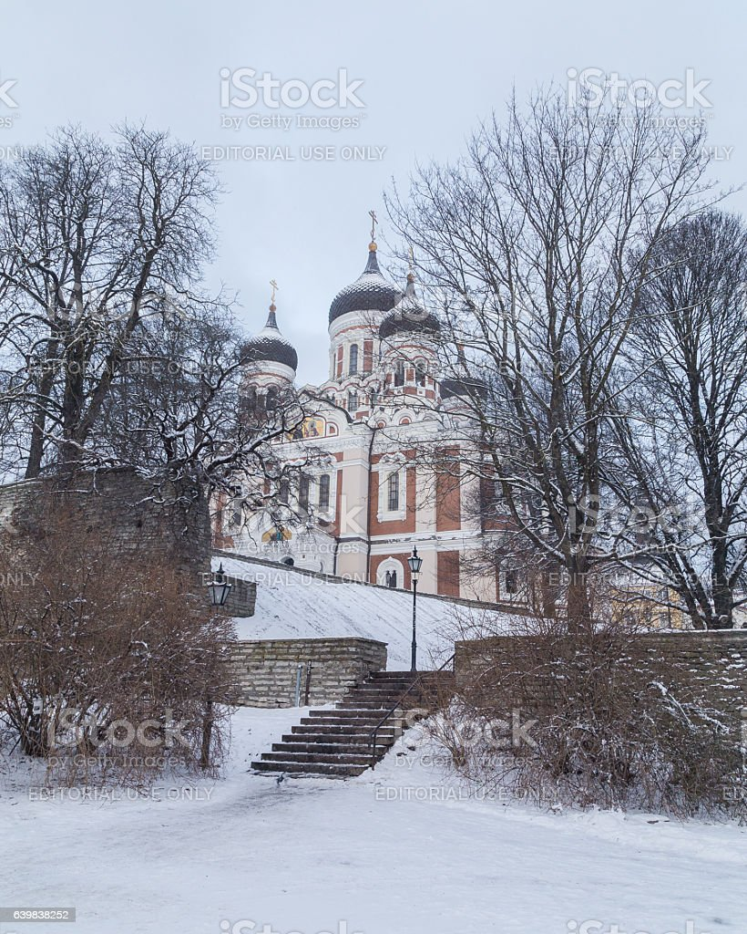 Alexander Nevsky Cathedral on Toompea Hill stock photo