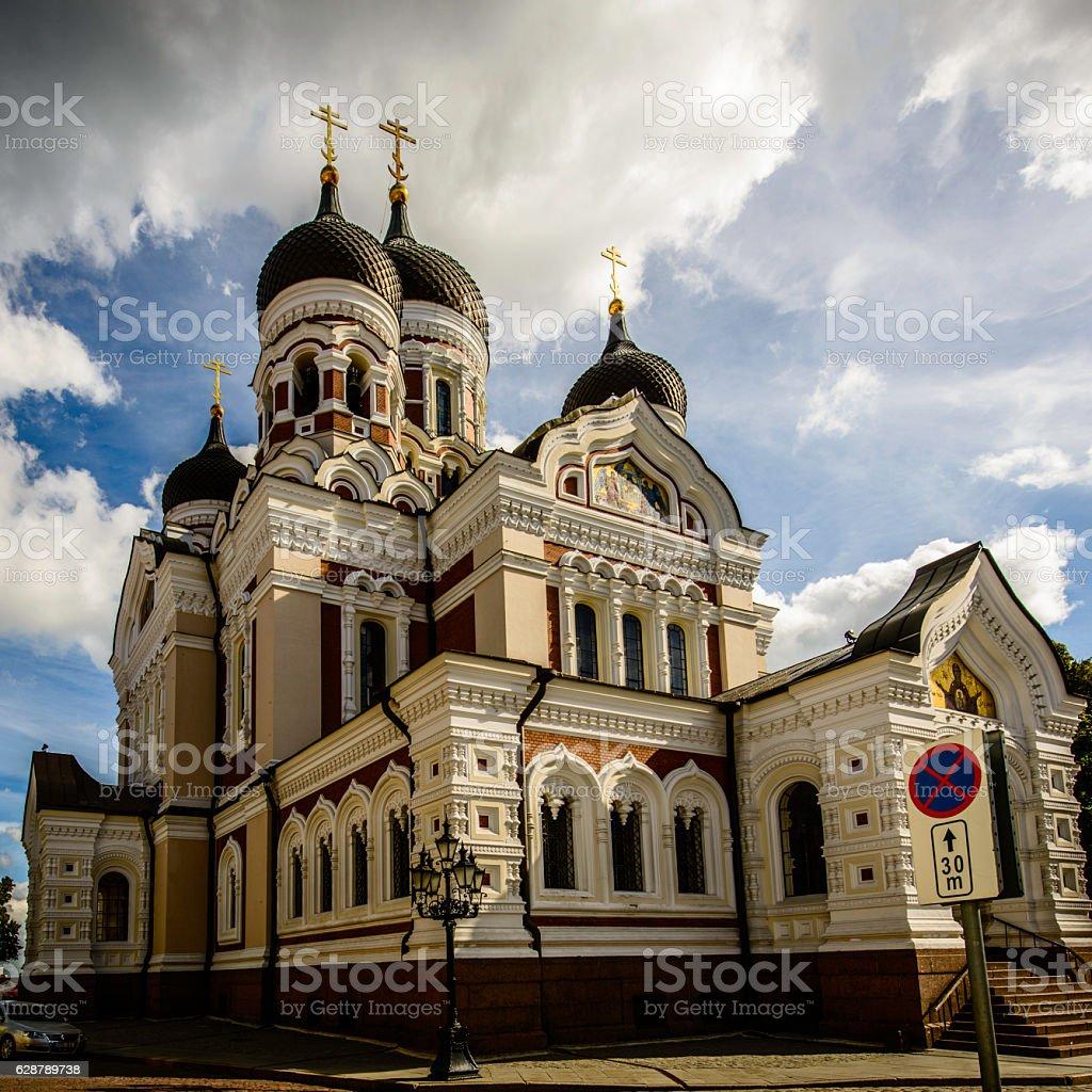 Alexander Nevsky Cathedral, Tallinn, Estonia stock photo