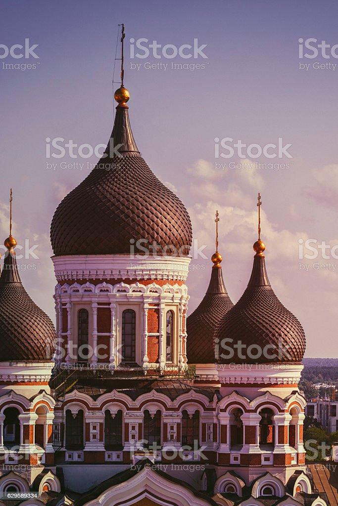 Alexander Nevsky cathedral, Tallinn stock photo