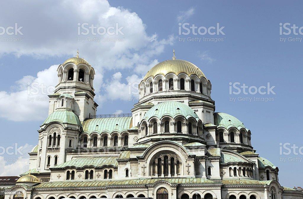 alexander nevsky church royalty-free stock photo