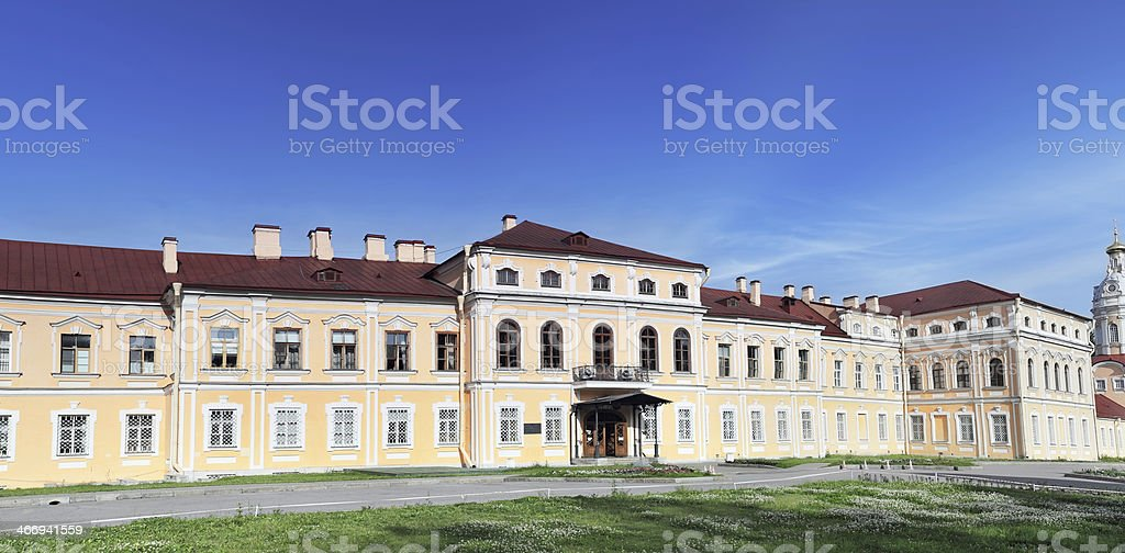 Alexander Nevsky Lavra (monastery) in Saint-Petersburg. stock photo