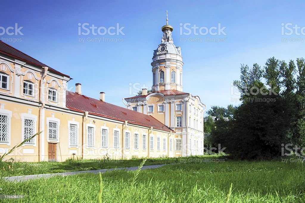 Alexander Nevsky Lavra (monastery) in Saint-Petersburg, Russia stock photo