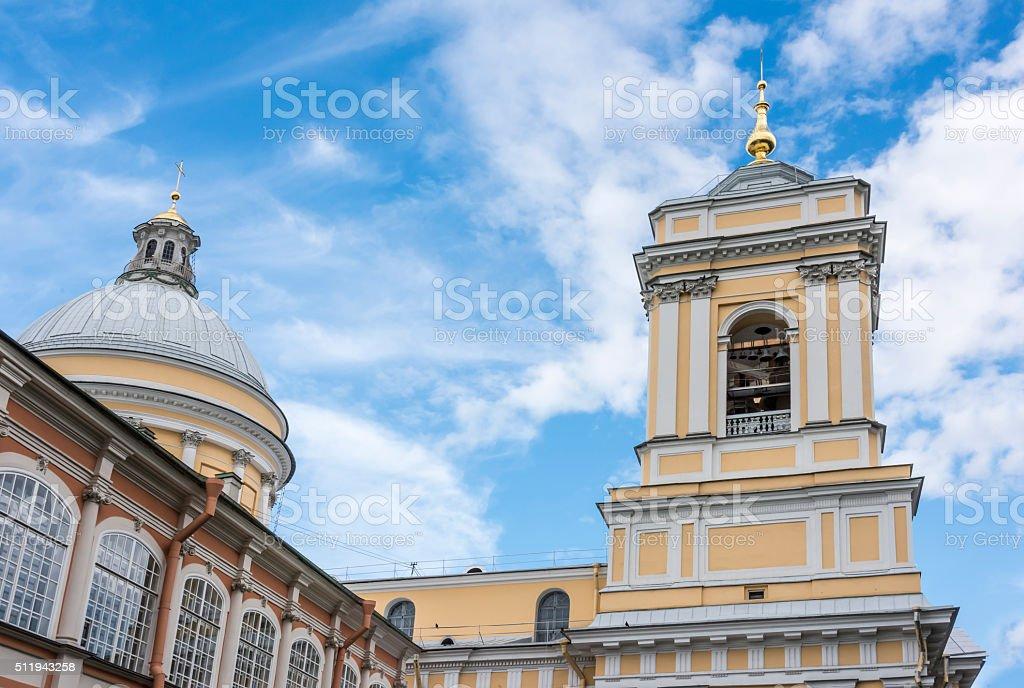 Alexander Nevsky Lavra in St. Petersburg stock photo