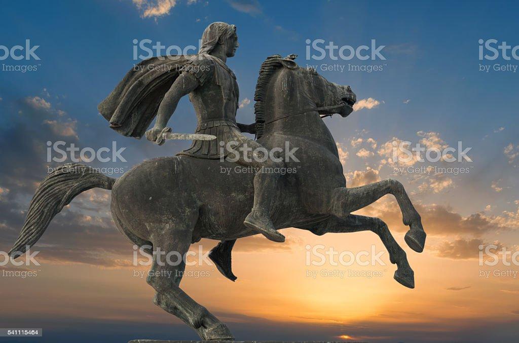 Alexander the great in Thessaloniki stock photo